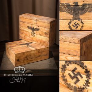 German WW2 small packing Crates