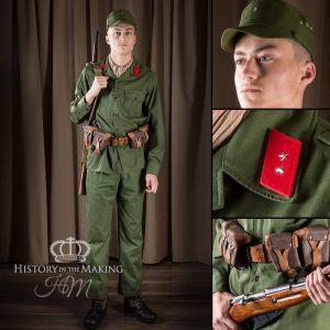 North Viet Nam Army Soldier - Sergeant - Russian Negant Carbine
