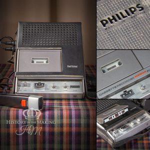 1970 Phillips Cassette Tape Recorder
