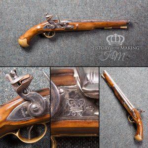 English 1756 Long Sea Service Flintlock Pistol - Live Firing