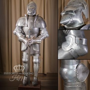 1450 Full Suit of Armour-GRP-on stand