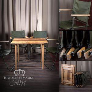 British Army - Folding Table and Chair Set - 1980