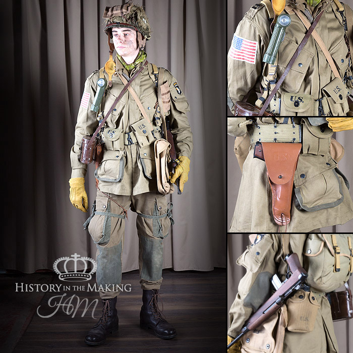 American Paratrooper Combat Uniform-Officer (1944-1945) & World War Two (1939-1945) American Army Uniforms Archives - History ...