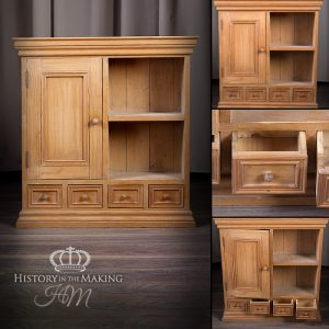 Small Pine Apothecary Cupboard