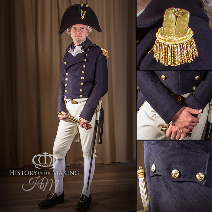 1806, Royal Navy, Captains Undress Uniform, Trafalgar. Complete uniform for hire