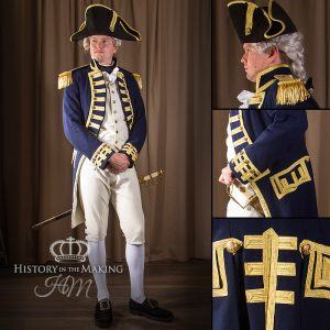 Uniform hire, Napoleonic Wars, royal navy, battle of trafalgar, admiral collingwood, 1806, has victory, full uniform for hire