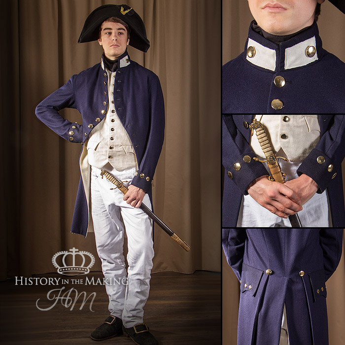 Royal navy, midshipman, uniform hire, 1806, battle of trafalgar, has victory, costume hire