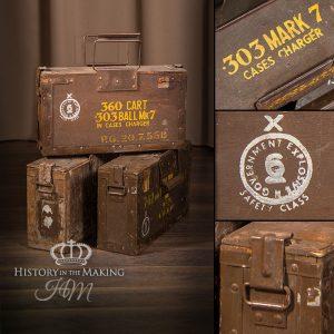 British Ammunition Boxes - 303 cal