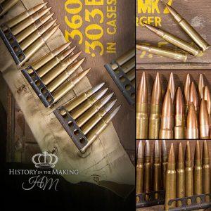 British 303cal Ammunition - Inert-with bandolier