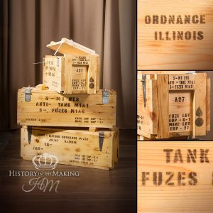 American WW2 Anti-Tank Mines Fuze Crates - Empty