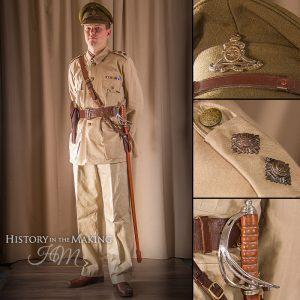 British officer Royal Artillery, Tropical Uniform, full dress 1914-1918