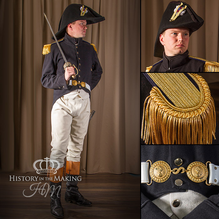 Napoleonic French Grenadier Officer Campaign Dress 1806