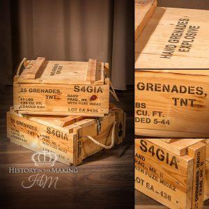 American WW2 Hand Grenade Crates - Empty