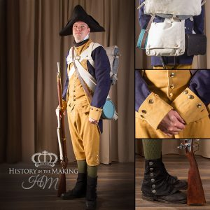 American Infantry, full campaign order,1776-1783