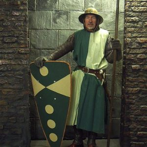 English  Early Medieval foot Soldier - Green Livery