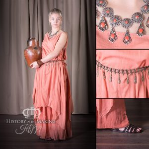 Roman Woman's Costume. 2 piece, terracotta