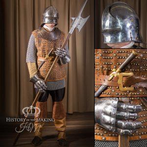 Medieval Men-at-Arms. Halbard