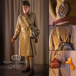 Officer in trench coat 1914-1918