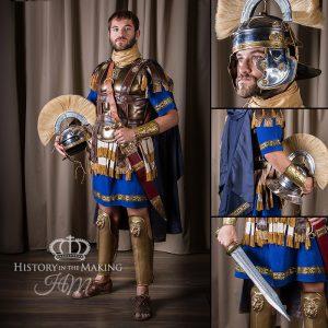 Roman General costume, blue tunic