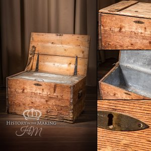 20th Century Vintage Zink lined Shipping Crate