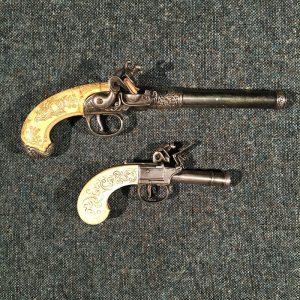 English 1775 Queen Anne Pistol and Pocket Pistol- Replica