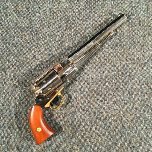 1861- Colt Navy Revolver-nickle plated- Replica- Deactivated