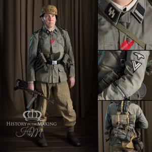 SS Infantry NCO (Rottenfuhrer)-Full Combat Uniform-Summer 1944