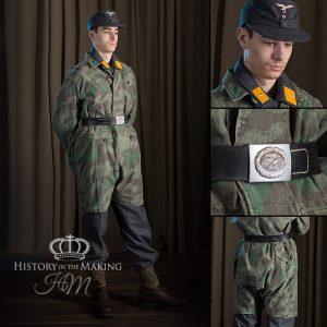 German Parachute Infantry-Basic Uniform with Jump Splinter Camouflage Smock