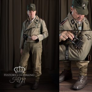 German SS Denim Uniform-NCO (Scharfuhrer)-1944