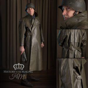 WW2 German Army Motorcyclist Waterproof Coat and cloves.