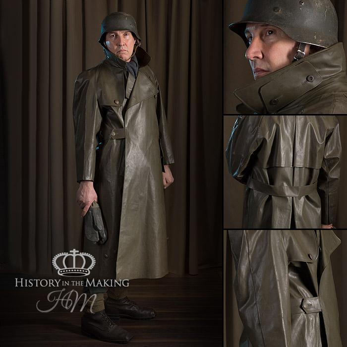 German Army Motorcyclist Waterproof, German Army Ww2 Trench Coat