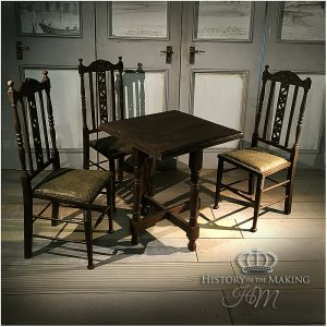 18th Century Tavern Table and Chairs set