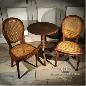 19th Century Cafe table and chair set