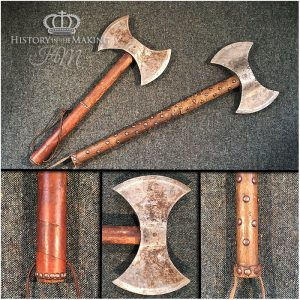 Norse, viking, axe, double headed axe, prop weapon hire, film prop weapons for hire