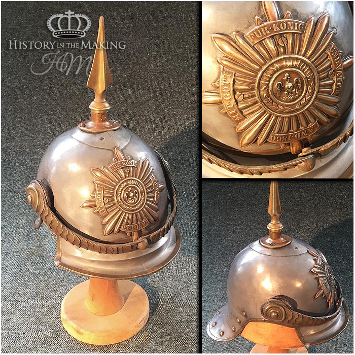 1880 Imperial German Army Helmet -Pickelhaube- History in the Making