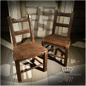 Rustic Heavy Wooden Chairs.