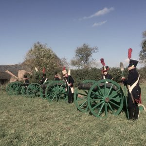 Reproduction artillery battery, french artillery, Napoleonic wars, blank firing