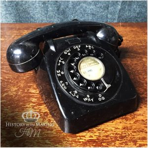 1960 Black Desk Telephone