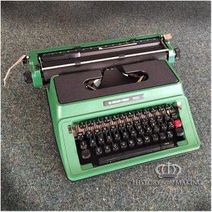1960 Green Plastic Typewriter- Antique