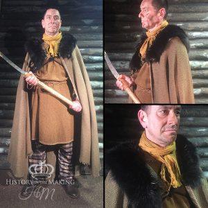 Celtic Elder, Long Axe, fur collar cloak.
