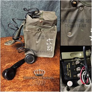 American WW2 EE-8 Field Telephone in waterproof case