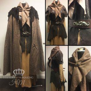 Pict Woman's Costume-1st Century AD, Fur collar Cloak