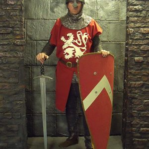 English Early Medieval Foot Soldier-Red Livery