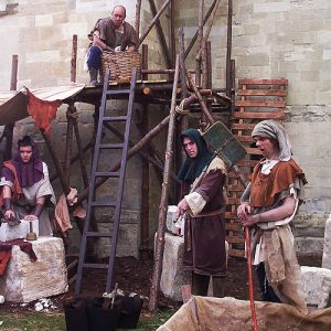 Early Medieval Costume. Stone Masons-BBC, God's Architect