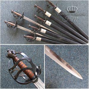 English Mortuary Sword - 1650. Steel basket hilt on steel blade.