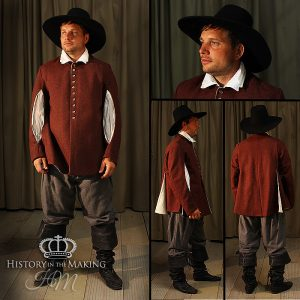 Early 17th Century long open sleeve doublet and breeches