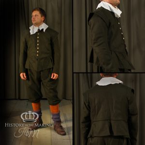 17th Century- Green Uniform Soldiers Coat and Breeches - 1640-1660