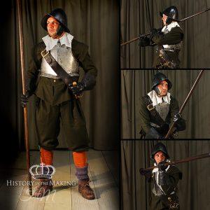 1642-1651 Green Coated Regiment- Pikeman