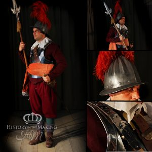 1642-1651 Officer of Pike- Red coated Regiment