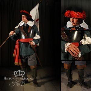 Royalist Regiment Ensign - Junior Officer - 1645-1651